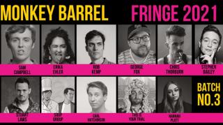 Monkey Barrel Reveals More Edinburgh Shows Including Rob Kemp, Carl Hutchison, Stuart Laws, Sam Campbell, Chris Thorburn, George Fox, Hannah Platt and Erika Ehler