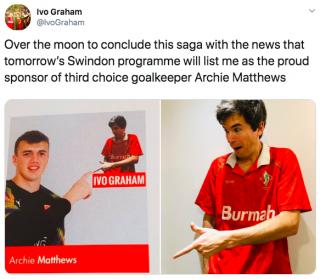 News: Comedian Ivo Graham In Minor Sponsorship Deal