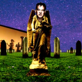 Stewart Lee in a Cemetery